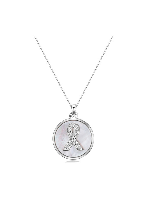 Mestige Silver Hope Necklace with Swarovski® Crystals