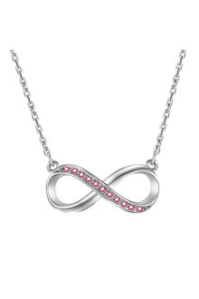 Mestige Silver Rose Infinitely Yours Necklace with Swarovski® Crystals - 255044