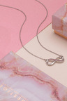 Mestige Silver Rose Infinitely Yours Necklace with Swarovski® Crystals