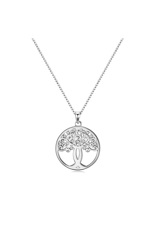 Mestige Silver Tree of Hope Necklace with Swarovski® Crystals