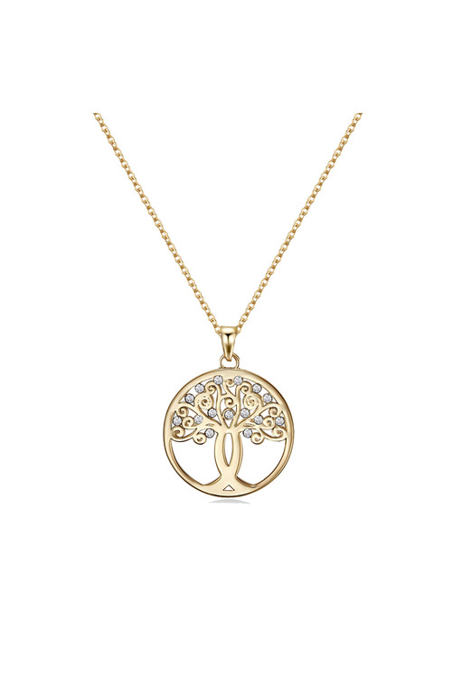 Mestige Gold Gold Tree of Hope Necklace with Swarovski® Crystals