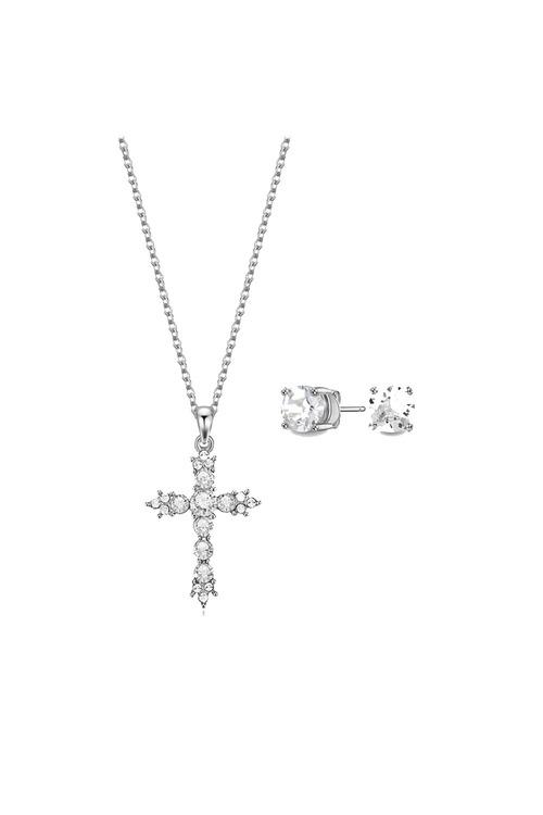 Mestige Silver Hallelujah Set with Swarovski® Crystals