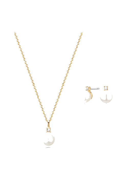 Mestige Gold Golden Katalina Freshwater Pearl Set with Swarovski®