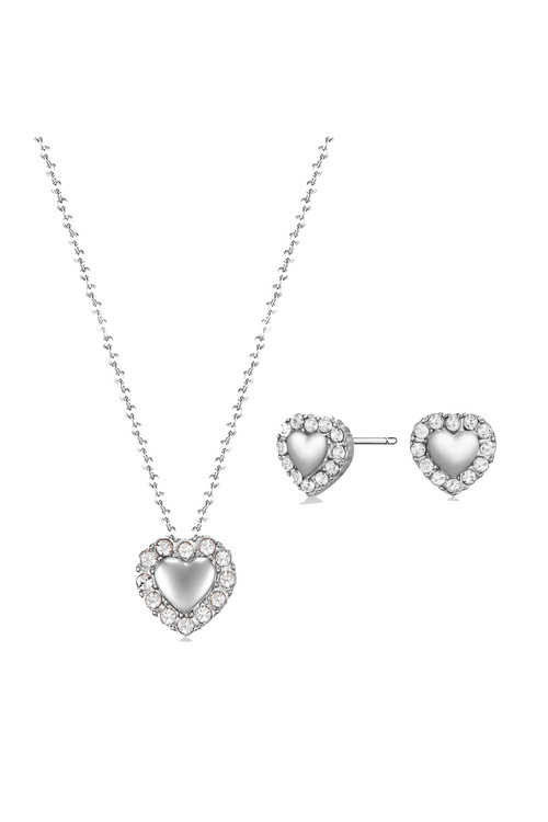 Mestige Silver Lovin You Set with Swarovski® Crystals