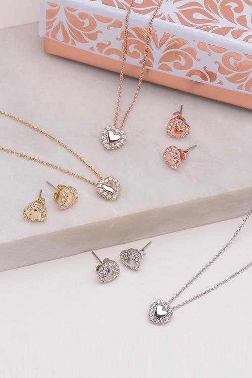 Mestige Gold Golden Lovin You Set with Swarovski® Crystals