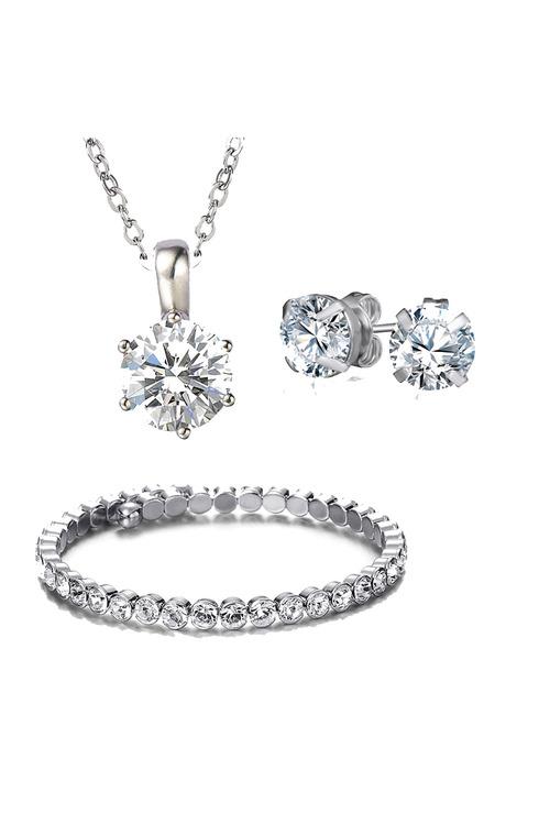 Mestige Silver Luxurious Set with Swarovski® Crystals