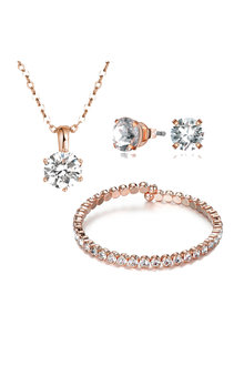 Mestige Rose Rose Gold Luxurious Set with Swarovski® Crystals - 255053