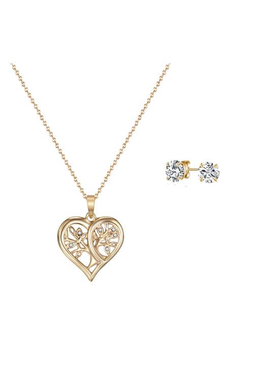 Mestige Gold Gold Tender Tree of Life Set with Swarovski® Crystals
