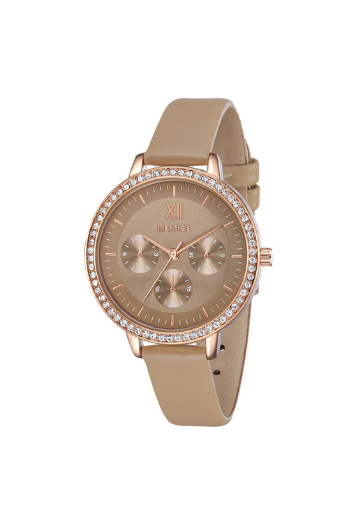 Mestige Rose The Emily in Brown with Swarovski® Crystals