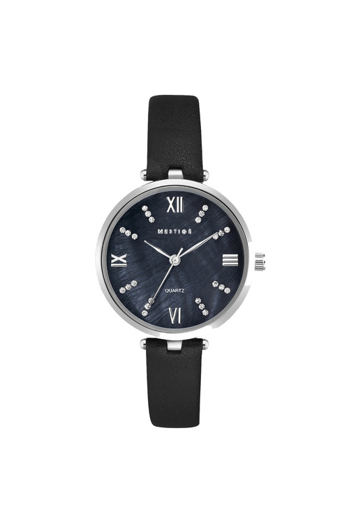 Mestige Silver The Grace in Black with Swarovski® Crystals