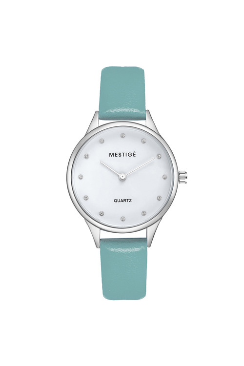 Mestige Silver The Oaklee in Teal with Swarovski® Crystals
