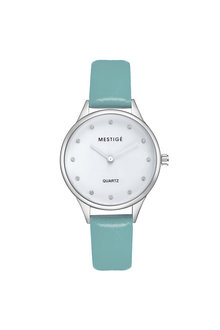 Mestige Silver The Oaklee in Teal with Swarovski® Crystals - 255083