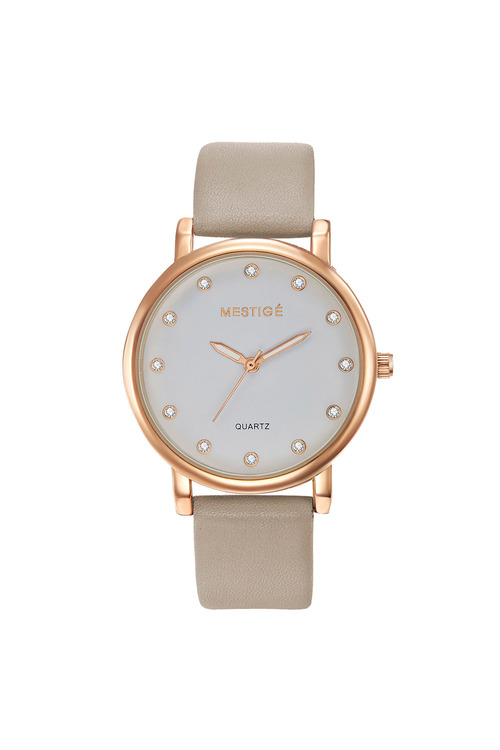 Mestige Rose The Steele in Taupe with Swarovski® Crystals