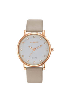 Mestige Rose The Steele in Taupe with Swarovski® Crystals - 255084