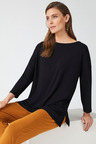 Grace Hill Panelled Long Sleeved Tee