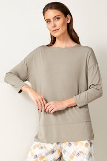 Grace Hill Panelled Long Sleeved Tee - 255094