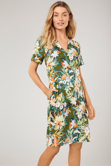 Capture Linen Blend Shift Dress - 255112