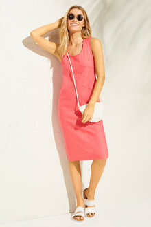 Capture Linen Blend Panelled Dress - 255113