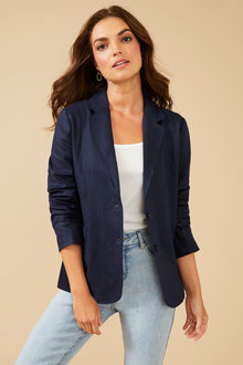 Capture Linen Blazer - 255115