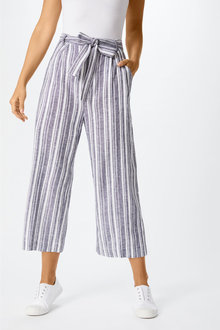 Capture Linen Blend Belted Culotte - 255116