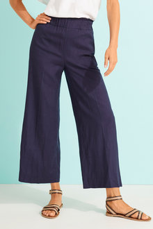 Capture Linen Blend Pants - 255117