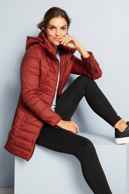Isobar Outdoors Longline Puffer Quilted Coat