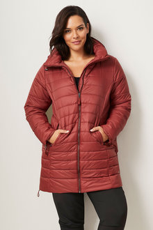 Isobar Plus Longline Quilted Puffer Jacket - 255125