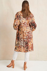 Grace Hill Longline Tab Sleeve Shirt