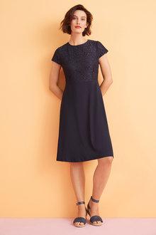 Capture Lace Knit Dress - 255141