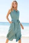 Capture Sleeveless Shirt Dress