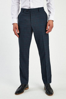 Next Check Suit: Trousers-Regular Fit - 255155