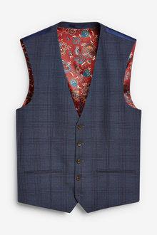 Next Check Suit: Waistcoat - 255159