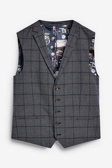 Next Windowpane Check Suit: Waistcoat - 255160