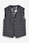 Next Windowpane Check Suit: Waistcoat