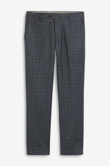 Next Marzotto Signature Check Suit: Trousers - 255164