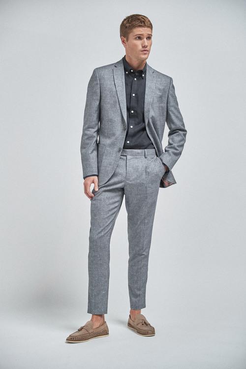 Next Textured Linen Blend Suit: Jacket