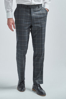 Next Check Suit: Trousers-Regular Fit - 255168