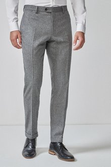 Next Herringbone Suit: Trousers-Skinny Fit - 255169