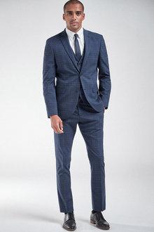 Next Check Suit: Jacket-Slim Fit - 255170