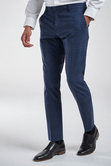 Next Check Suit: Trousers-Slim Fit - 255171