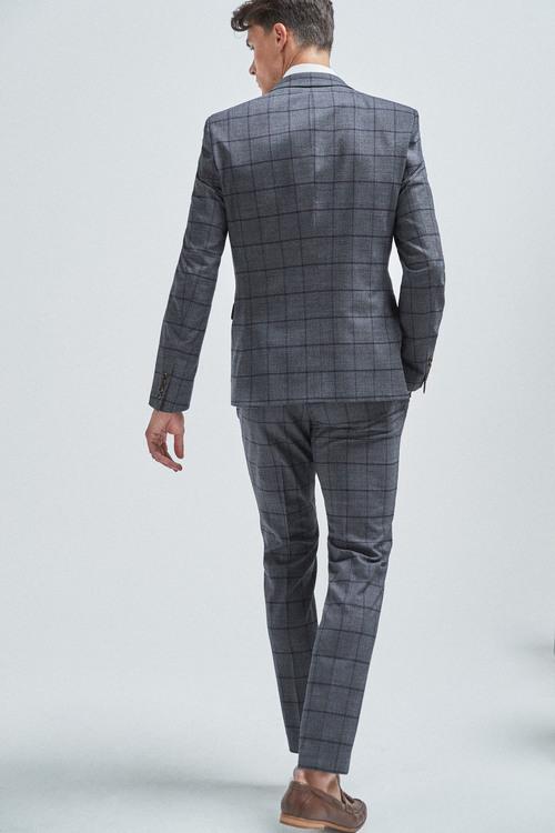 Next Windowpane Check Suit: Jacket