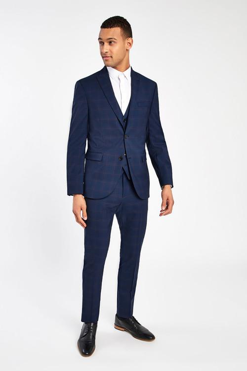 Next Reda Check Suit: Waistcoat