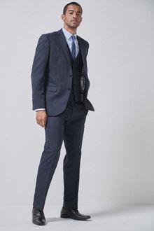 Next Check Suit: Jacket-Regular Fit - 255179