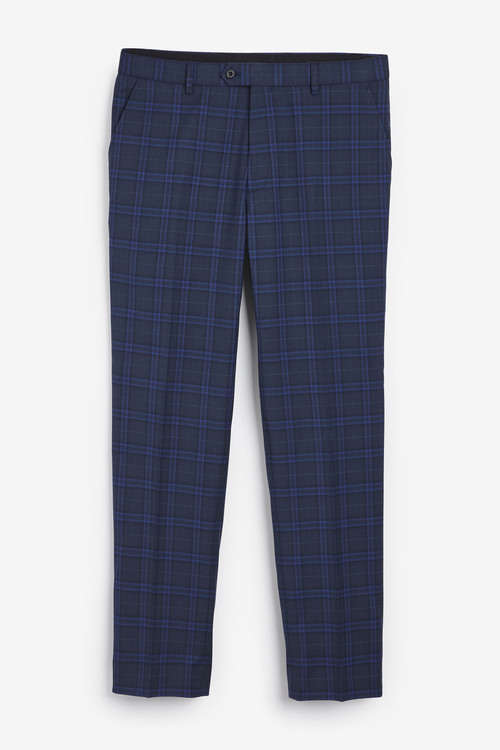 Next Check Suit: Trousers-Regular Fit