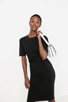 Next Black Ponte Bodycon Dress - 255272