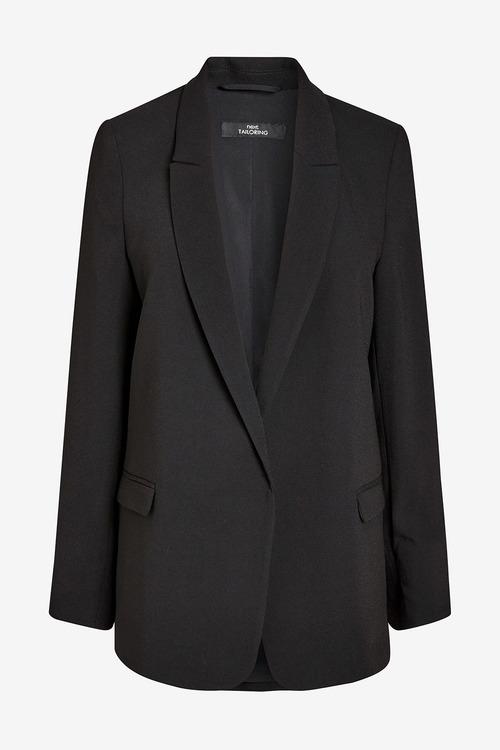 Next Black Relaxed Soft Crepe Blazer