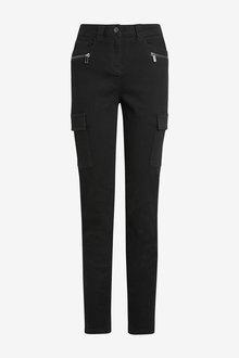 Next Black Utility Skinny Jeans - 255338