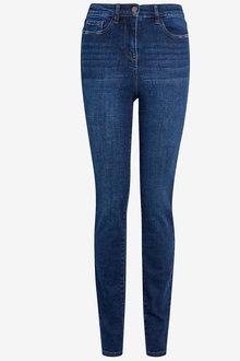 Next Dark Blue High Waist Authentic Skinny Jeans - 255339