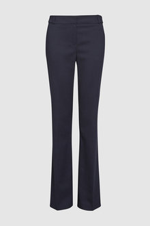 Next Navy Tailored Boot Cut Trousers - 255347
