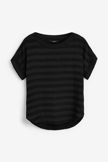 Next Black Stripe T-Shirt - 255351
